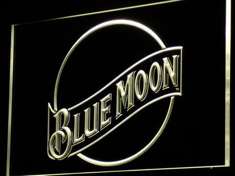 Blue Moon LED Neon Sign - Yellow - SafeSpecial