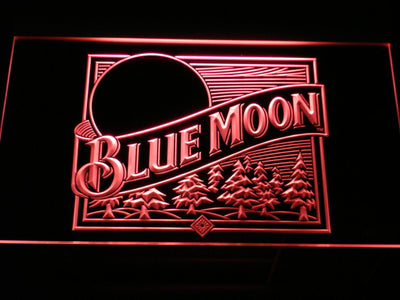 Blue Moon Old Logo LED Neon Sign - Red - SafeSpecial