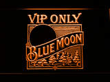 Blue Moon Old Logo VIP Only LED Neon Sign - Orange - SafeSpecial