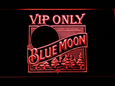 Blue Moon Old Logo VIP Only LED Neon Sign - Red - SafeSpecial