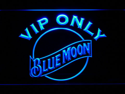 Image of Blue Moon VIP Only LED Neon Sign - Blue - SafeSpecial
