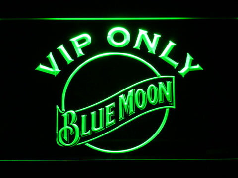 Blue Moon VIP Only LED Neon Sign - Green - SafeSpecial