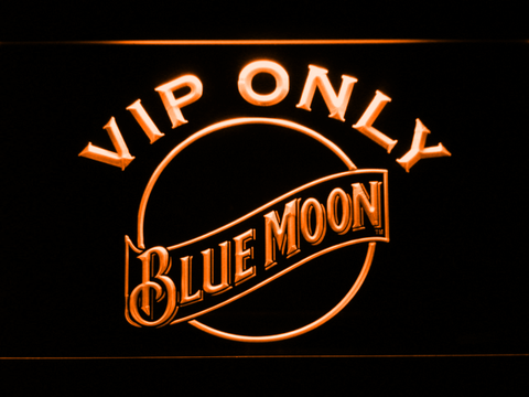 Image of Blue Moon VIP Only LED Neon Sign - Orange - SafeSpecial