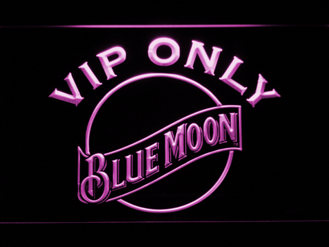 Image of Blue Moon VIP Only LED Neon Sign - Purple - SafeSpecial