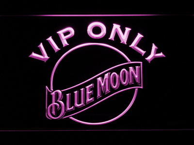 Blue Moon VIP Only LED Neon Sign - Purple - SafeSpecial