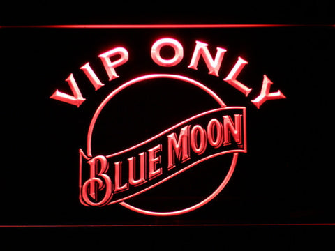 Blue Moon VIP Only LED Neon Sign - Red - SafeSpecial