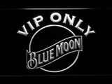 Blue Moon VIP Only LED Neon Sign - White - SafeSpecial