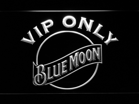 Image of Blue Moon VIP Only LED Neon Sign - White - SafeSpecial