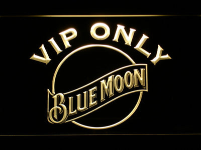 Blue Moon VIP Only LED Neon Sign - Yellow - SafeSpecial