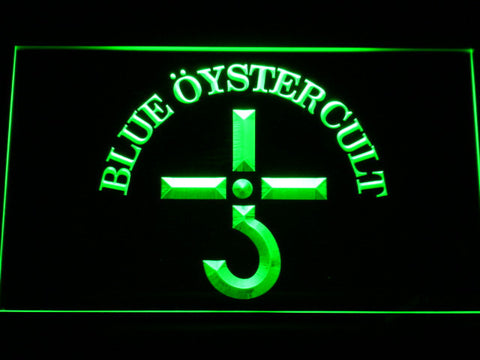 Blue Oyster Cult LED Neon Sign - Green - SafeSpecial