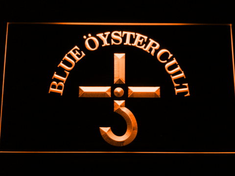 Blue Oyster Cult LED Neon Sign - Orange - SafeSpecial
