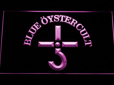 Blue Oyster Cult LED Neon Sign - Purple - SafeSpecial