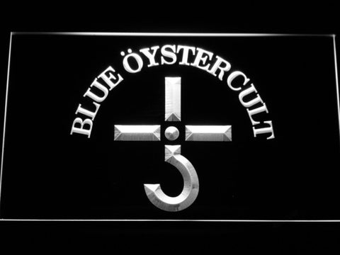 Blue Oyster Cult LED Neon Sign - White - SafeSpecial