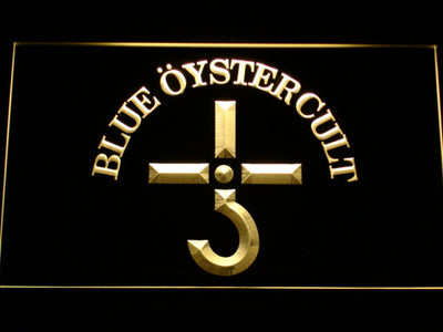 Blue Oyster Cult LED Neon Sign - Yellow - SafeSpecial