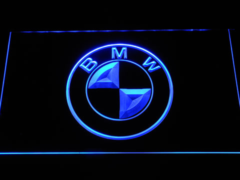 BMW Logo LED Neon Sign - Blue - SafeSpecial