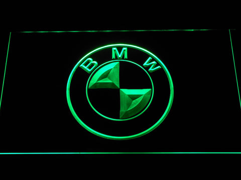 BMW Logo LED Neon Sign - Green - SafeSpecial