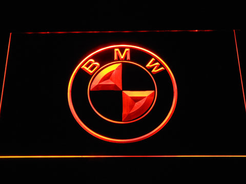 BMW Logo LED Neon Sign - Orange - SafeSpecial