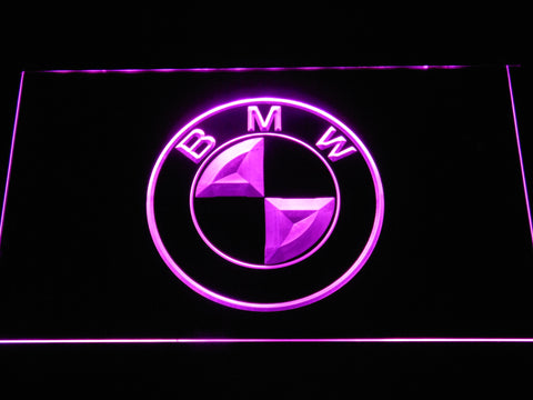 BMW Logo LED Neon Sign - Purple - SafeSpecial