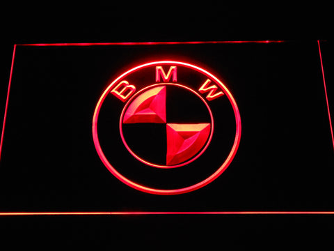 BMW Logo LED Neon Sign - Red - SafeSpecial