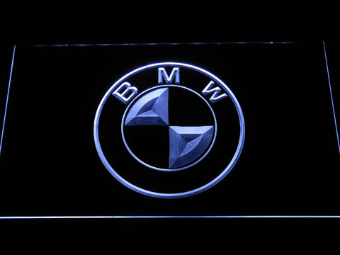 BMW Logo LED Neon Sign - White - SafeSpecial