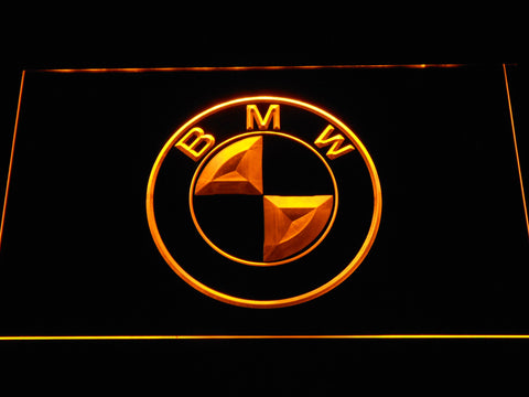 BMW Logo LED Neon Sign - Yellow - SafeSpecial