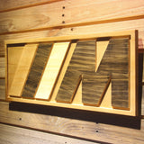 BMW M Series Wooden Sign - - SafeSpecial