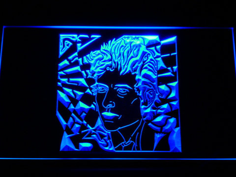 Bob Dylan LED Neon Sign - Blue - SafeSpecial