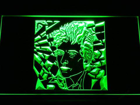 Bob Dylan LED Neon Sign - Green - SafeSpecial