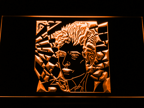 Bob Dylan LED Neon Sign - Orange - SafeSpecial