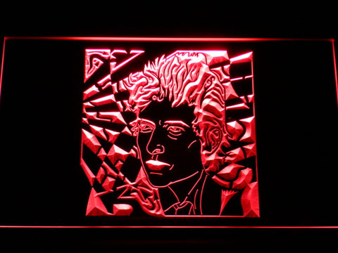 Bob Dylan LED Neon Sign - Red - SafeSpecial