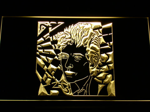 Bob Dylan LED Neon Sign - Yellow - SafeSpecial