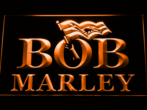 Bob Marley LED Neon Sign - Orange - SafeSpecial