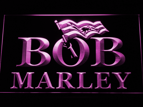 Bob Marley LED Neon Sign - Purple - SafeSpecial