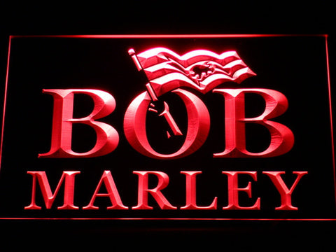 Bob Marley LED Neon Sign - Red - SafeSpecial