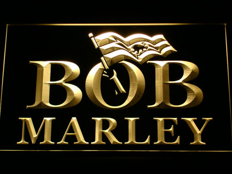 Bob Marley LED Neon Sign - Yellow - SafeSpecial
