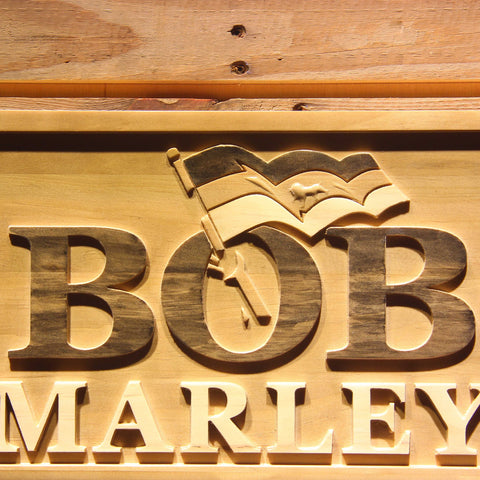 Bob Marley Wooden Sign - - SafeSpecial