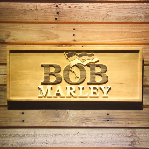Bob Marley Wooden Sign - Small - SafeSpecial