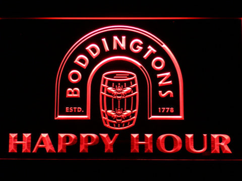 Boddingtons Happy Hour LED Neon Sign - Red - SafeSpecial