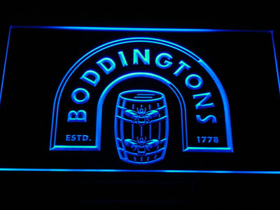 Boddingtons LED Neon Sign - Blue - SafeSpecial