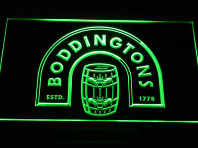 Boddingtons LED Neon Sign - Green - SafeSpecial