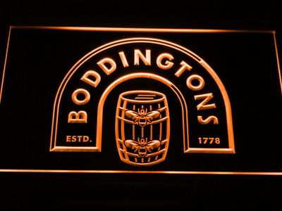 Boddingtons LED Neon Sign - Orange - SafeSpecial