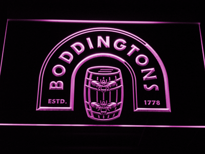 Boddingtons LED Neon Sign - Purple - SafeSpecial