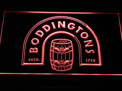 Boddingtons LED Neon Sign - Red - SafeSpecial