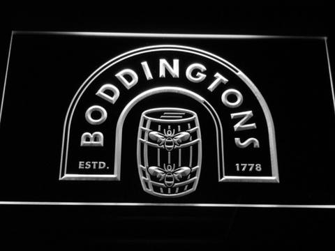 Image of Boddingtons LED Neon Sign - White - SafeSpecial