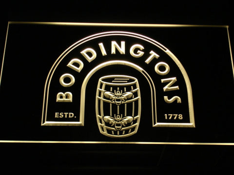 Image of Boddingtons LED Neon Sign - Yellow - SafeSpecial