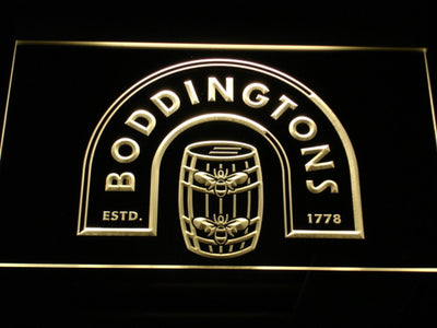 Boddingtons LED Neon Sign - Yellow - SafeSpecial