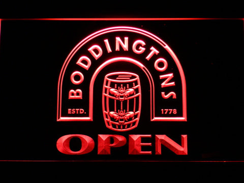 Boddingtons Open LED Neon Sign - Red - SafeSpecial