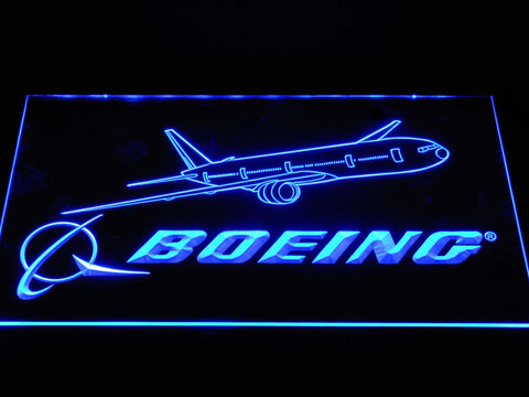 Image of Boeing LED Neon Sign - Blue - SafeSpecial