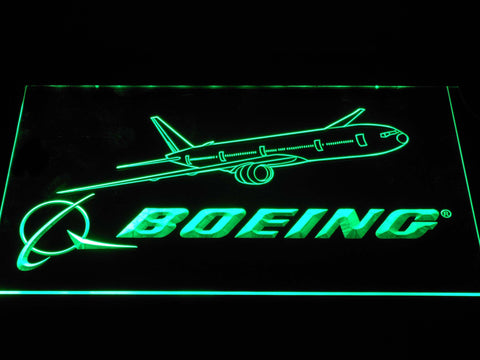Image of Boeing LED Neon Sign - Green - SafeSpecial