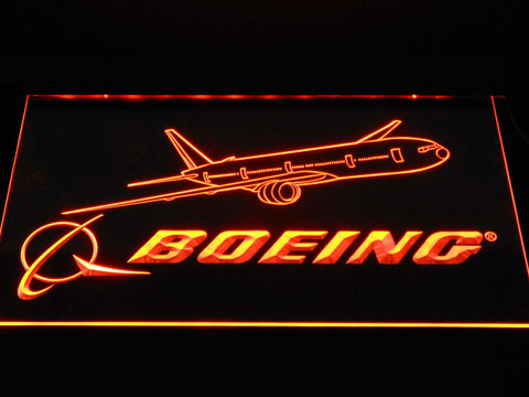 Image of Boeing LED Neon Sign - Orange - SafeSpecial